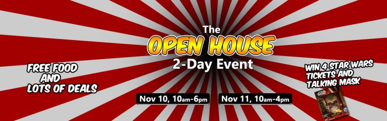 2017 Open House and win free movie tickets